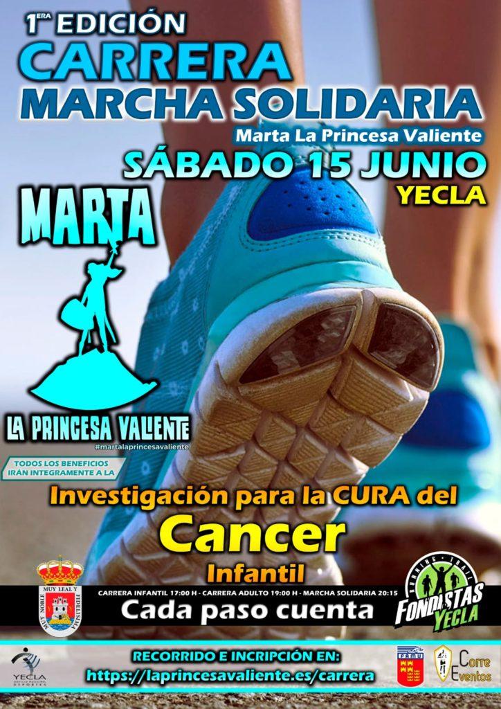 """Cartel """"I Carrera Contra el Cáncer Infantil"""" 2019"""
