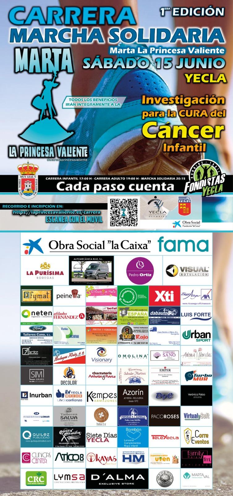 Cartel I Carrera Contra el Cáncer Infantil 2019